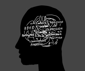 Artsy representation of mental disorders