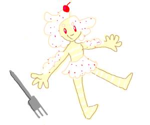 Human made of cake