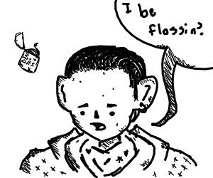Backpack kid saying I be flossin'