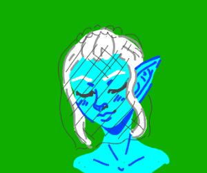 blue elf bride