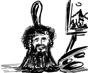Bob Ross paintbrush