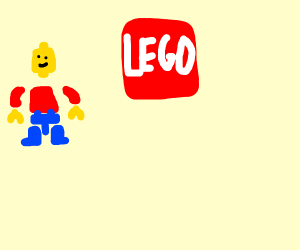 LEGO Figure in his single parts