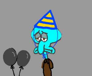 Squidward's birthday! (literally) - Drawception