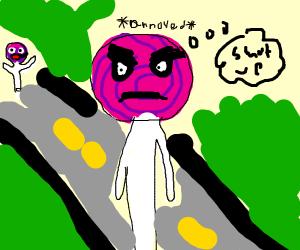 Annoyed lollipop