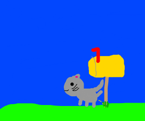 Cat claiming a mailbox