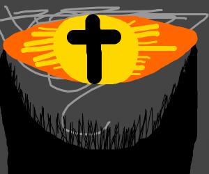 Christian Eye of sauron, with angry bananas