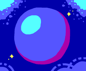 A Blue Slimy Shiny Orb with sparks