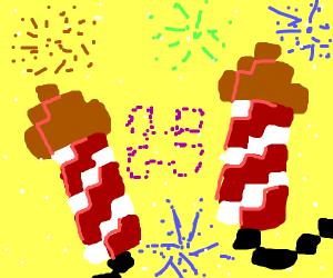 minecraft fireworks x2