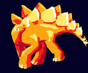 A faboulous Stegosaurus (dino with spikes)