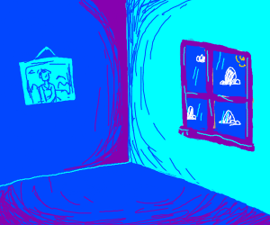 a blue room