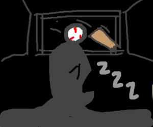 Falling asleep during a baseball movie
