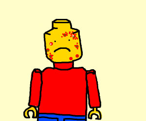 Lego man with skin disease
