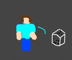Steve mining