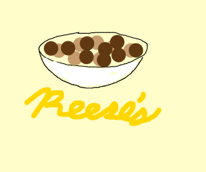 bowl of reeses puffs