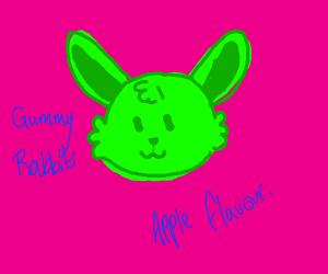 gummy rabbit (apple flavored)