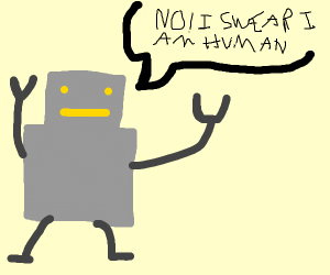 Robot Pretending to be human