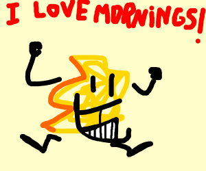 Cereal loves the morning