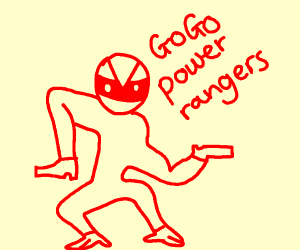 Red power ranger,but its wrong,oh god help m