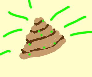 Radioactive poo