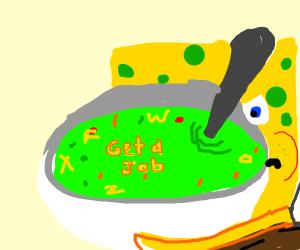 Spongebob's special soup