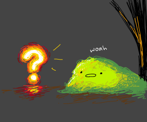 Slime is in awe of glowing question mark