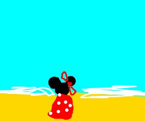 Minnie Mouse enjoying the Beach