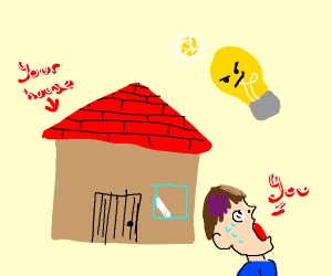 A light bulb about to shock yo house