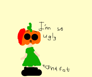 Pumpkin-chan lacks self-esteem