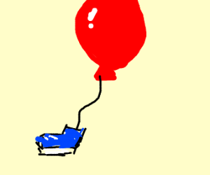 Balloon wearing Shoes