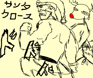 Muscular Santa