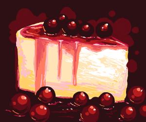 Slice of Cherry Cake