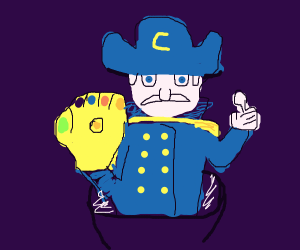 Cap'n Crunch with the infinity gauntlet.