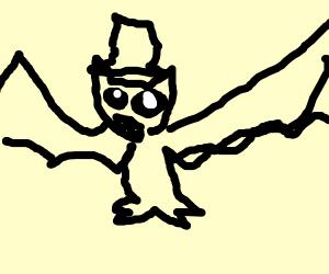 bat in a top hat