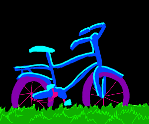 purple wheeled bike