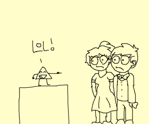 couple laughed at by a triangle