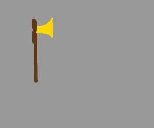 a golden axe