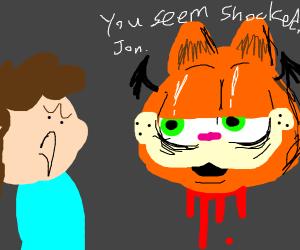 Garfield As A Zombie Drawception