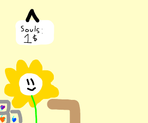souls from undertale being sold