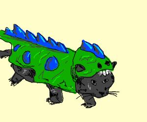 Cat in a Dragon Costume!