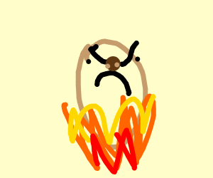 Angry hot potato