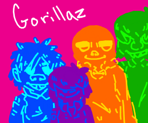 3D-Colorful Gorillaz
