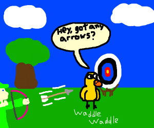 duck waddles into target