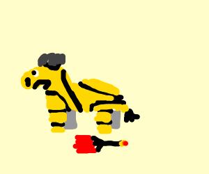 zebra bee explodes
