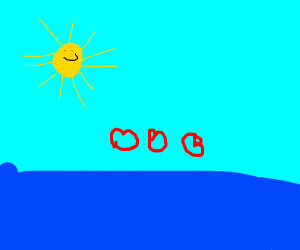 The sea loves the sun