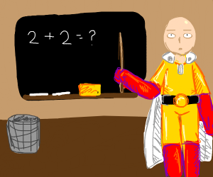 One punch man becomes a teacher