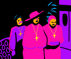 Chic Spanish inquisition with hefty bust