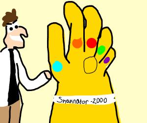 Doofenshmirtz has the infinity gauntlet