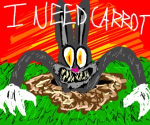 Rabbit wants carrots