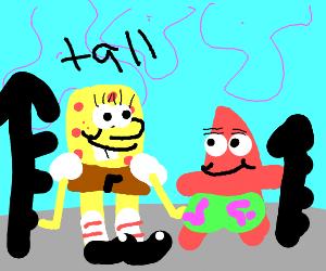 spongebob is taller than patrick