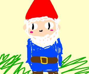 Cute red lawn gnome